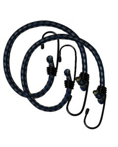 Heavy Duty Stretch Cord With Coated Steel Hooks - 450mm