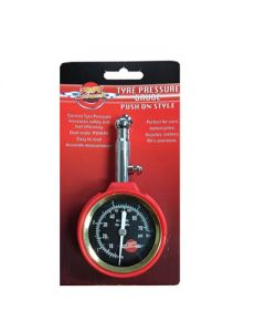 Air Attack Tyre Pressure Gauge Push on Style